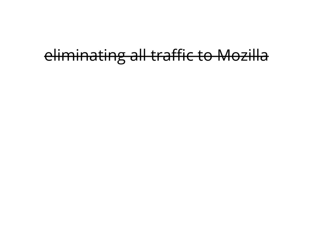 eliminating all traffic to Mozilla