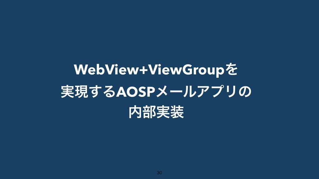 WebView+ViewGroupΛ ࣮ݱ͢ΔAOSPϝʔϧΞϓϦͷ ෦࣮