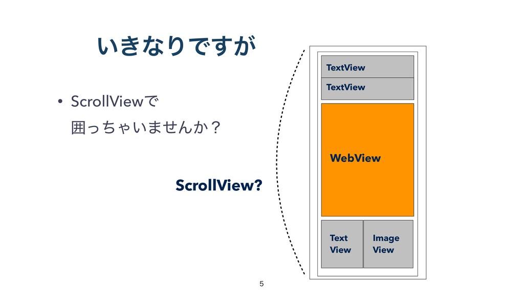 ͍͖ͳΓͰ͕͢ • ScrollViewͰ ғͬͪΌ͍·ͤΜ͔ʁ TextView WebV...