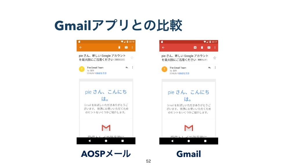 GmailΞϓϦͱͷൺֱ AOSPϝʔϧ Gmail