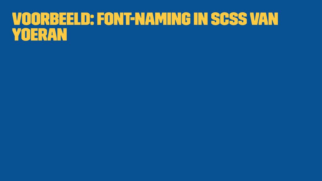 Voorbeeld: Font-naming in SCSS van Yoeran