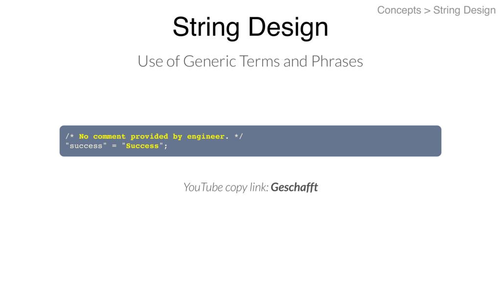 String Design Concepts > String Design Use of G...