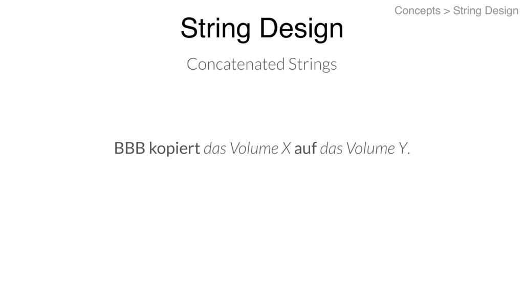 BBB kopiert das Volume X auf das Volume Y. Stri...