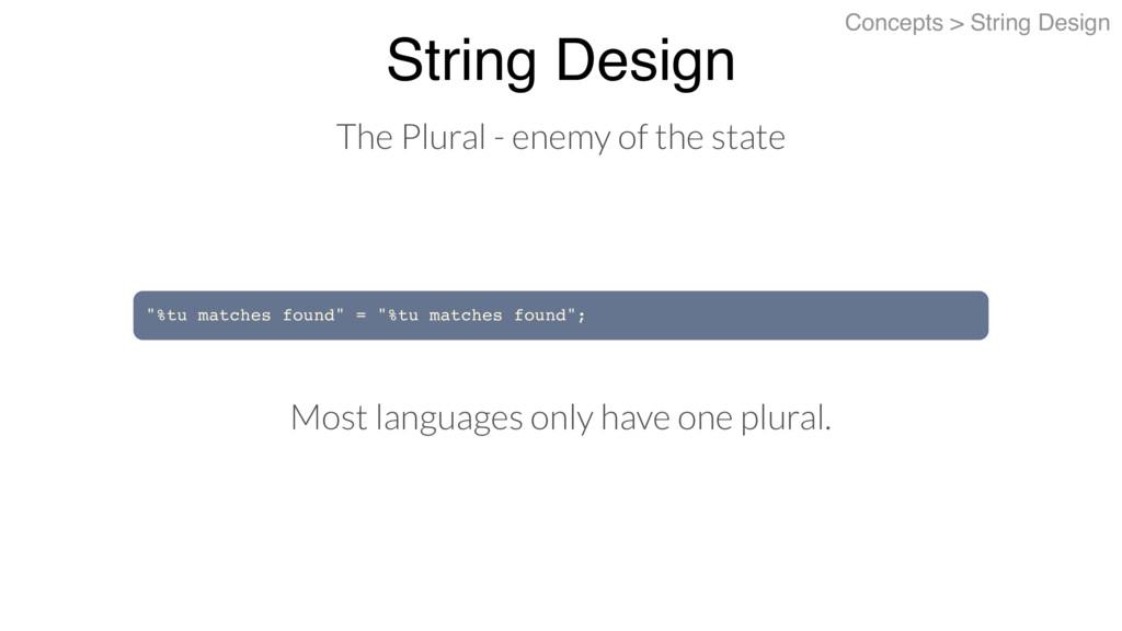 """String Design Concepts > String Design """"%tu mat..."""