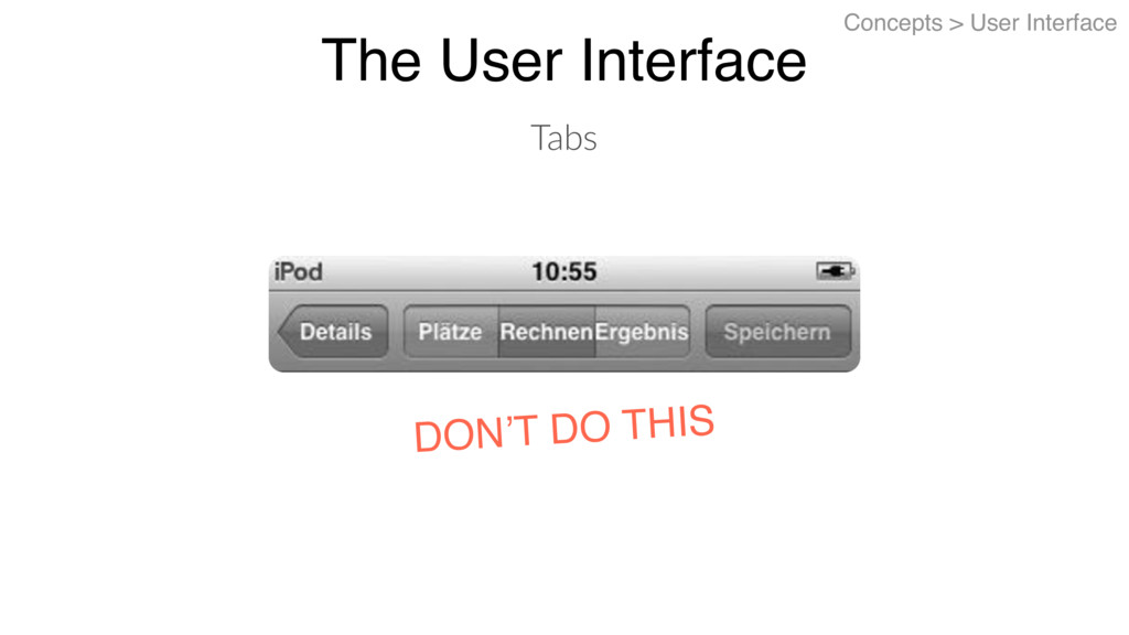 The User Interface Concepts > User Interface Ta...