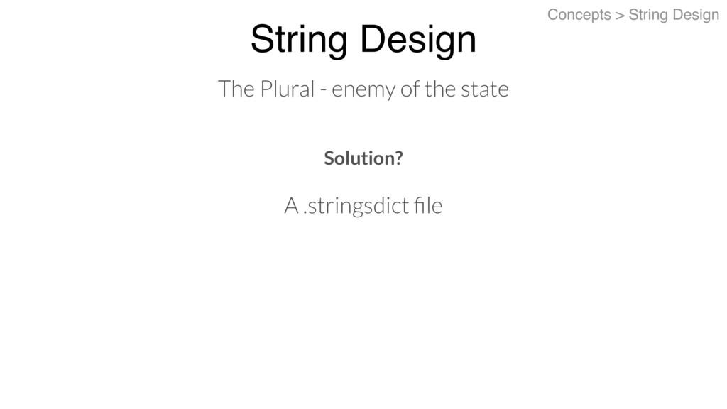 String Design Concepts > String Design The Plur...