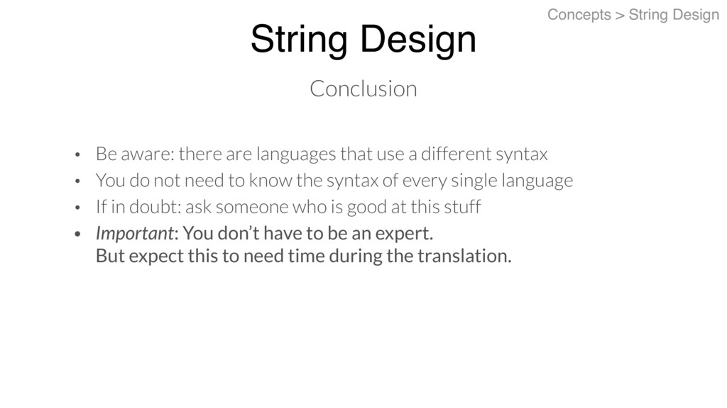 String Design Concepts > String Design Conclusi...