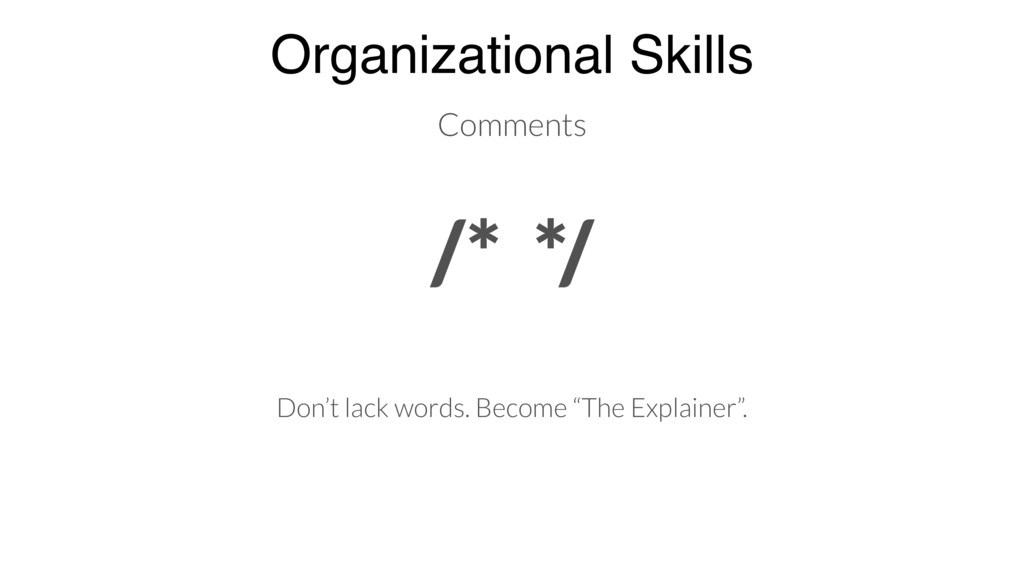 Organizational Skills Don't lack words. Become ...
