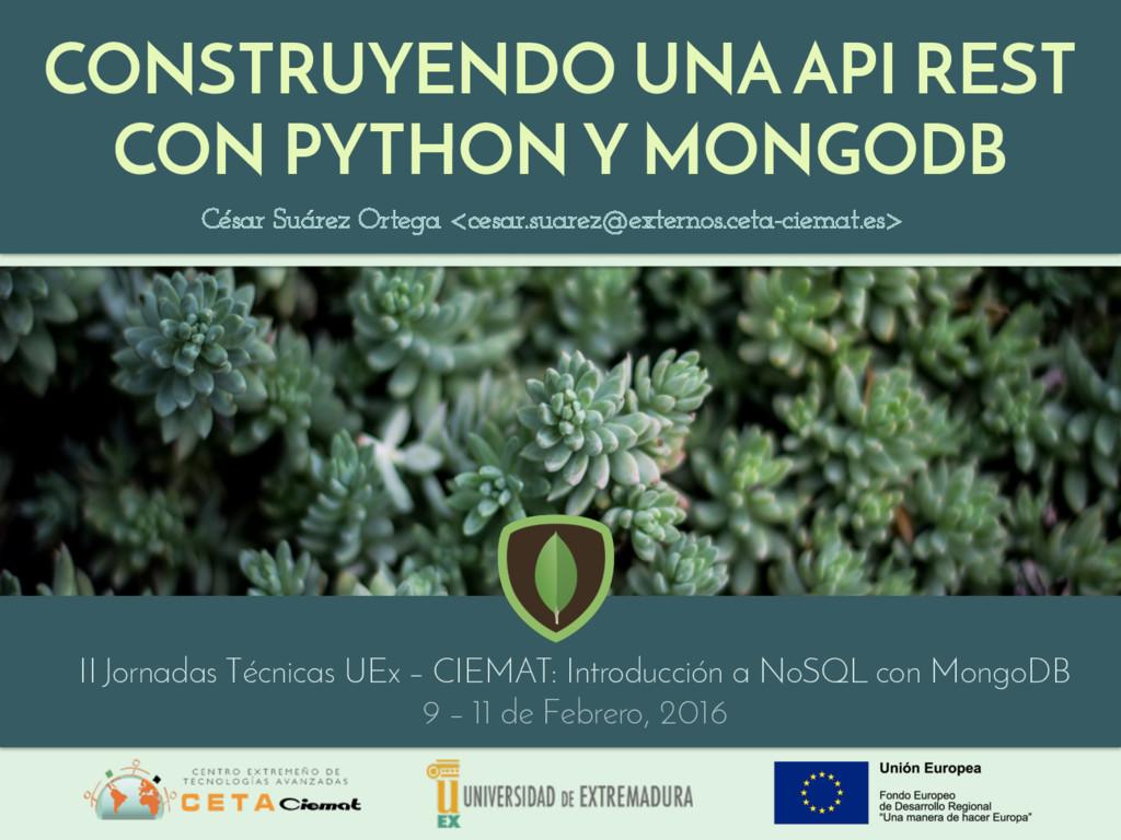 CONSTRUYENDO UNA API REST CON PYTHON Y MONGODB ...