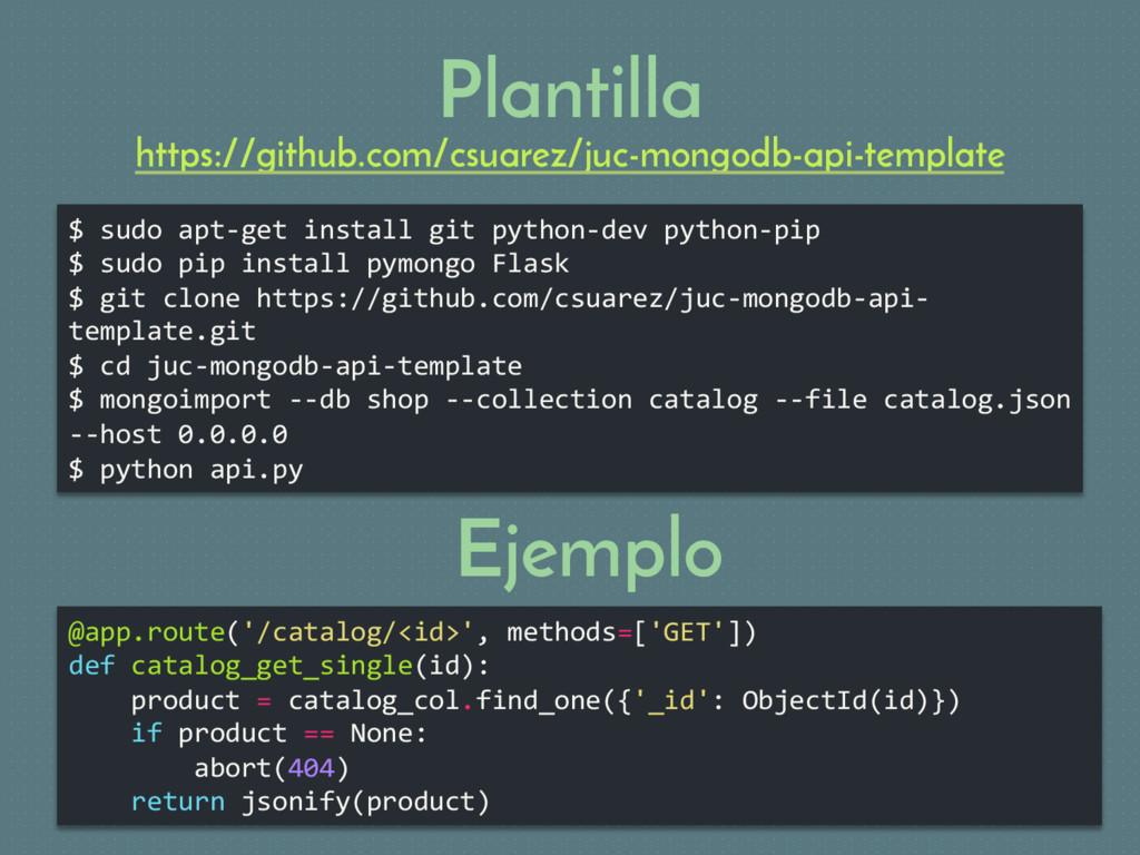 Plantilla $ sudo apt-get install git python-dev...