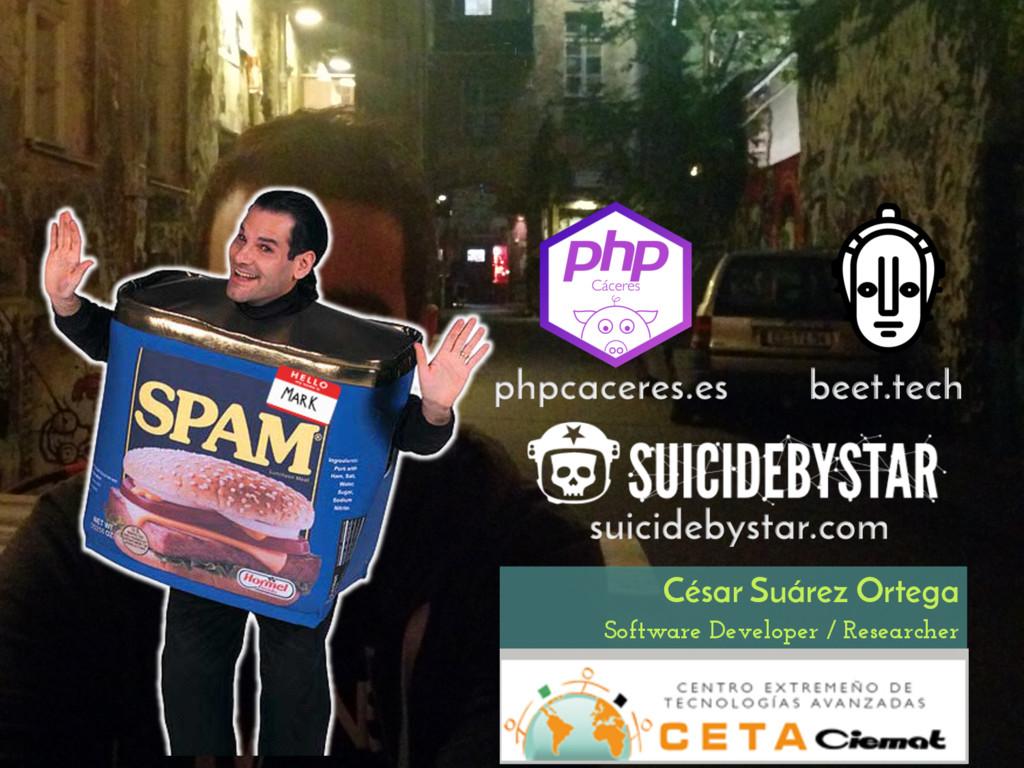 Software Developer / Researcher César Suárez Or...