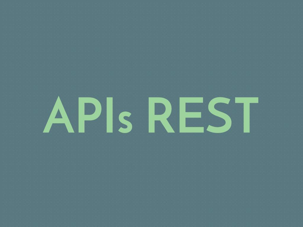 APIs REST