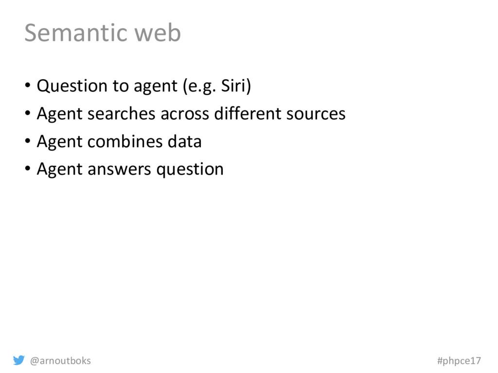 @arnoutboks #phpce17 Semantic web • Question to...