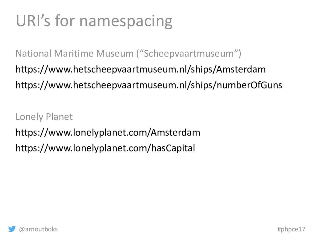 @arnoutboks #phpce17 URI's for namespacing Nati...
