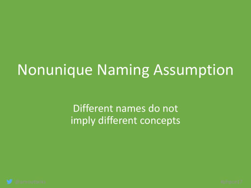 @arnoutboks #phpce17 Nonunique Naming Assumptio...