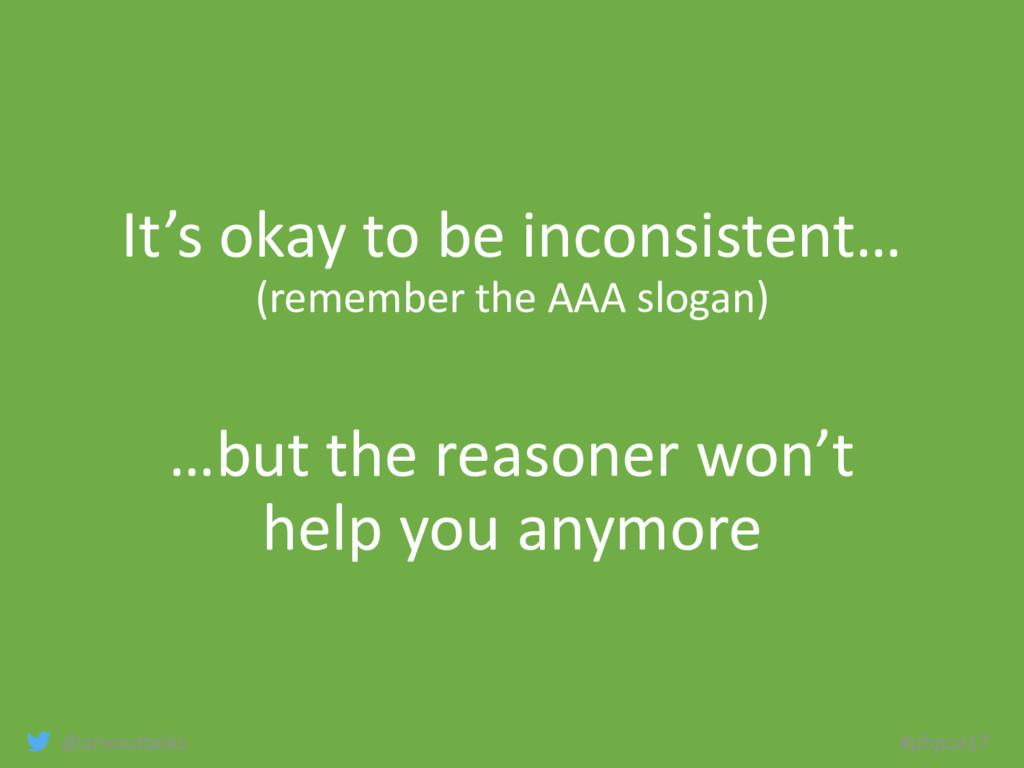 @arnoutboks #phpce17 It's okay to be inconsiste...