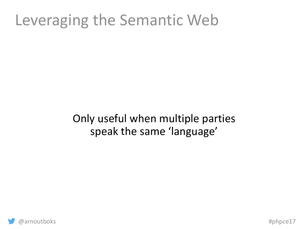@arnoutboks #phpce17 Leveraging the Semantic We...