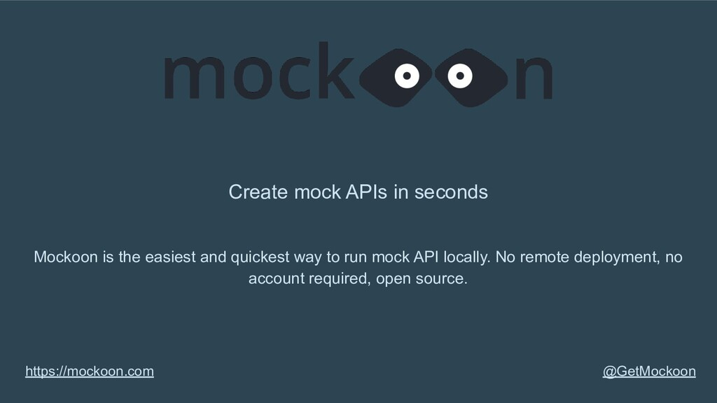 Create mock APIs in seconds Mockoon is the easi...