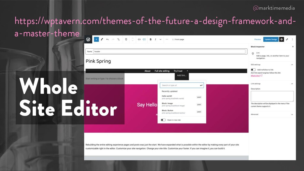 @marktimemedia Whole Site Editor https://wptave...