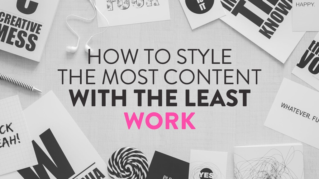 @marktimemedia HOW TO STYLE THE MOST CONTENT WI...