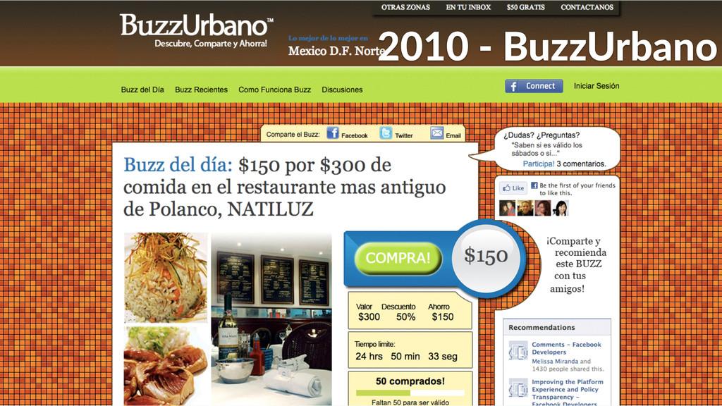 2010 -‐ BuzzUrbano