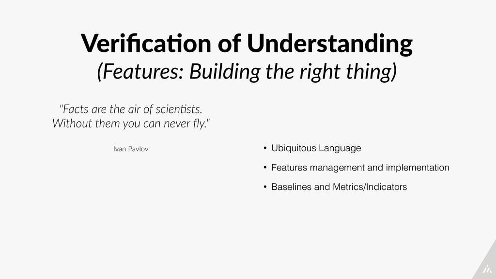 Verifica4on of Understanding  (Features: Bui...