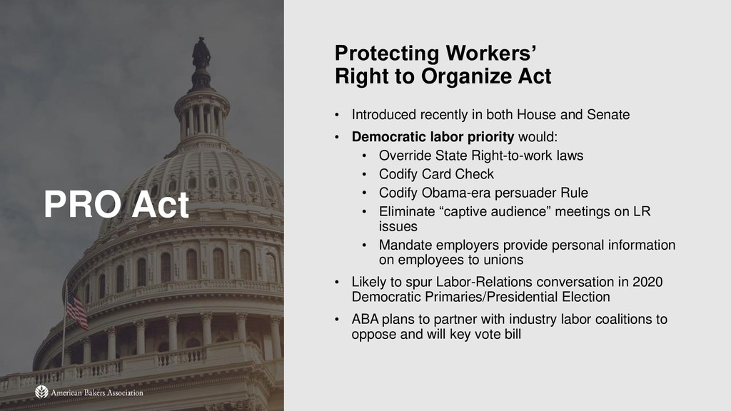 PRO Act Protecting Workers' Right to Organize A...