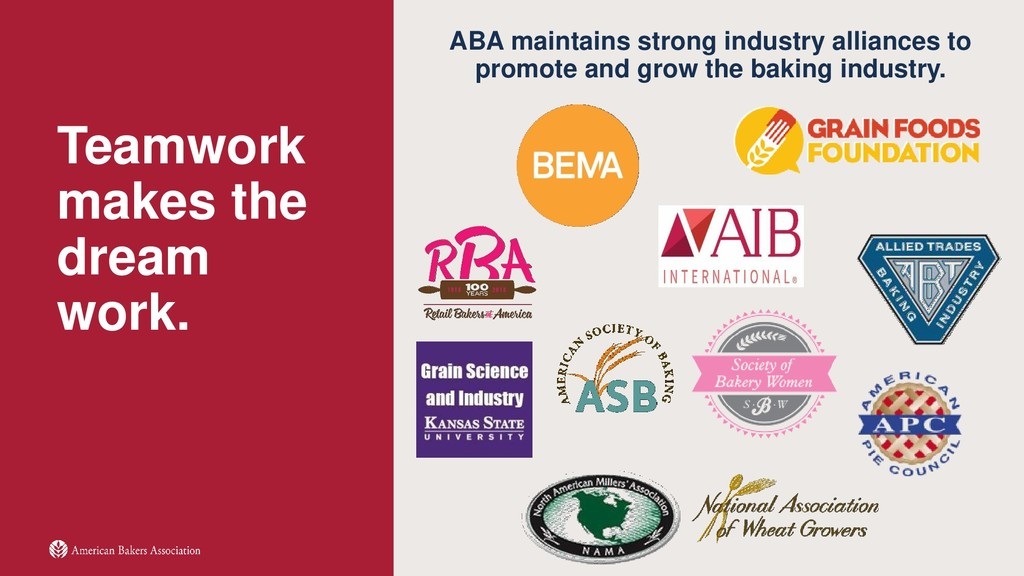 Teamwork makes the dream work. ABA maintains st...