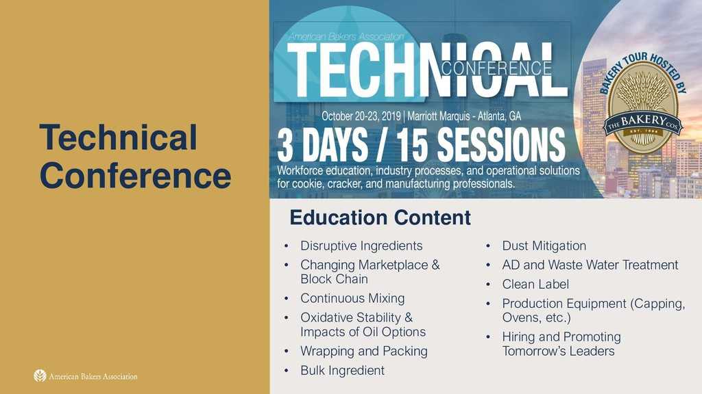 Technical Conference Education Content • Disrup...