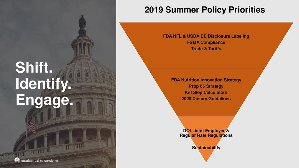 Shift. Identify. Engage. 2019 Summer Policy Pri...