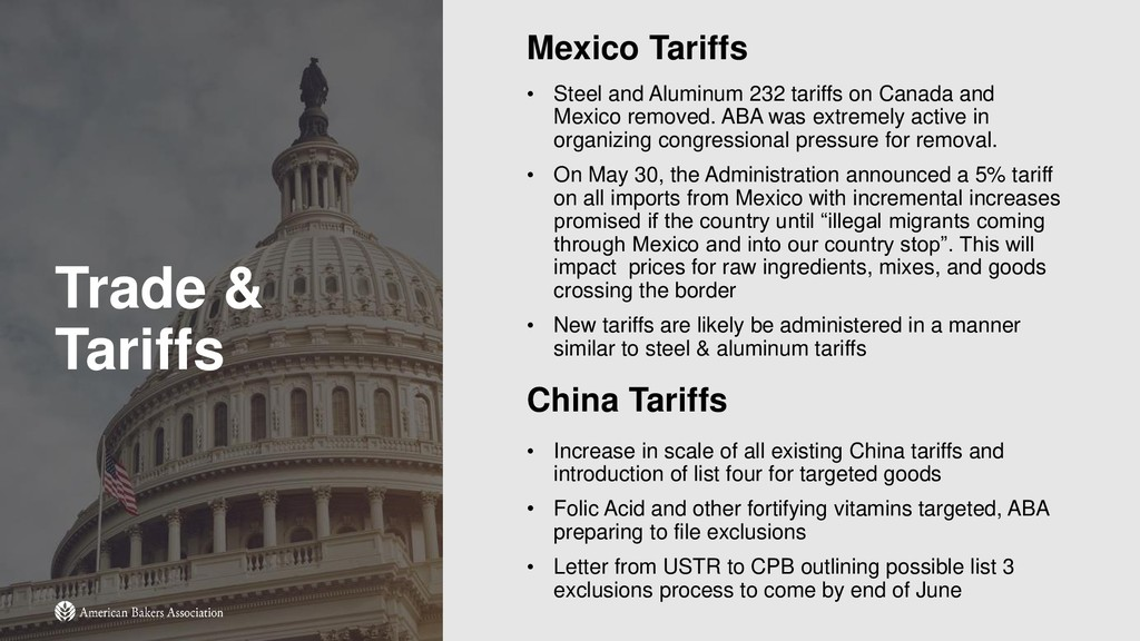 Trade & Tariffs Mexico Tariffs • Steel and Alum...