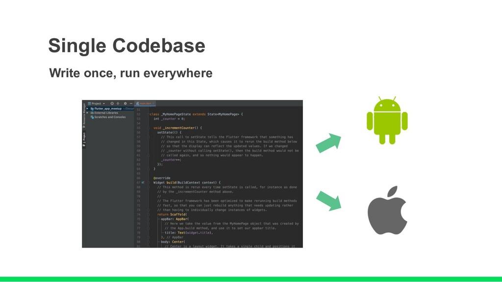 Single Codebase Write once, run everywhere