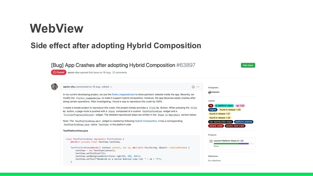 WebView Side effect after adopting Hybrid Compo...