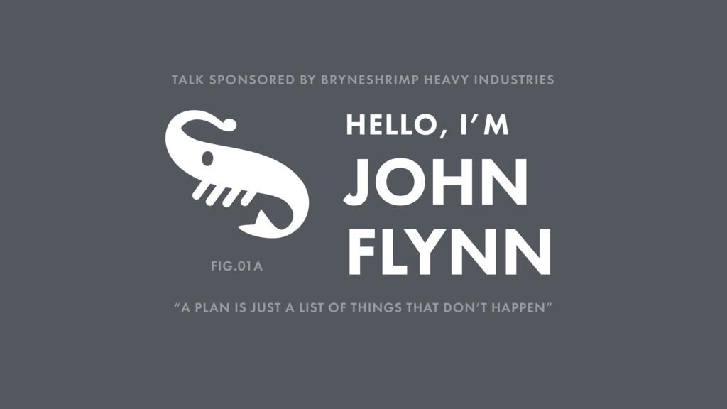 "JOHN FLYNN HELLO, I'M ""A PLAN IS JUST A LIST OF..."