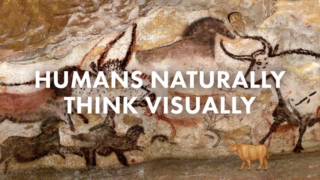 HUMANS NATURALLY THINK VISUALLY