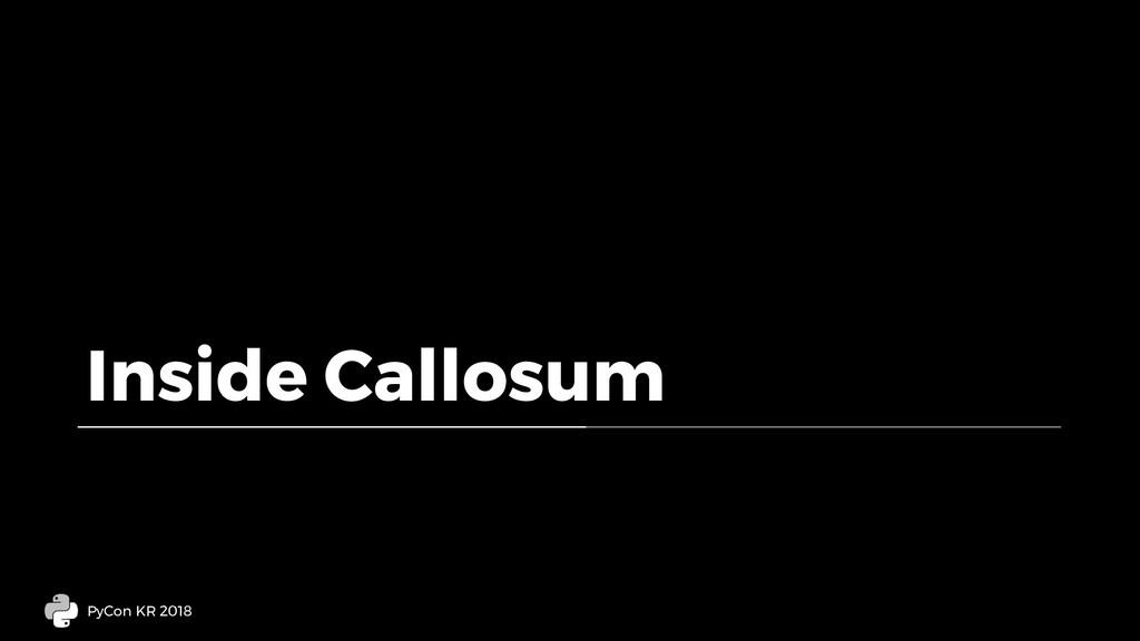 Inside Callosum PyCon KR 2018