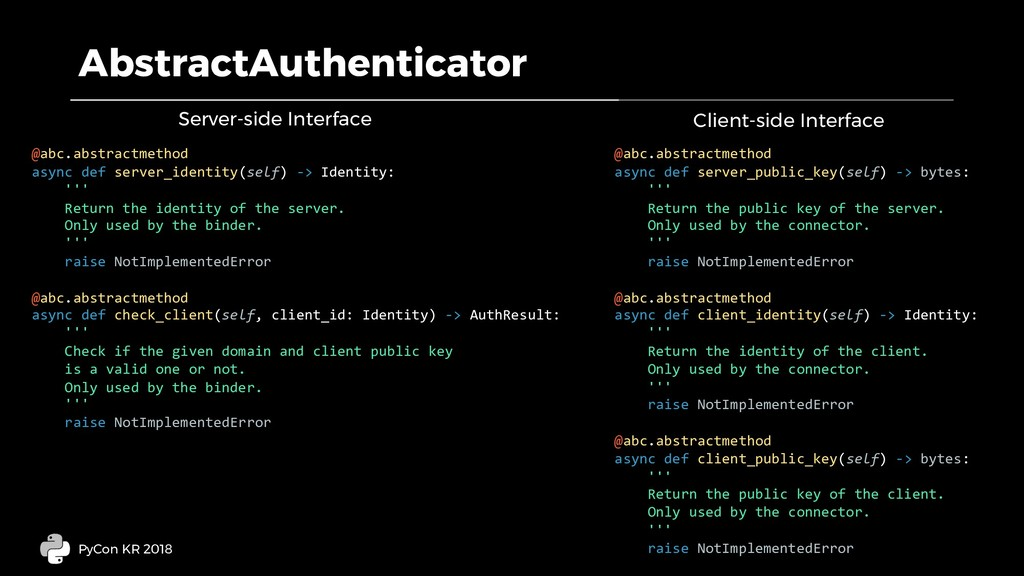 AbstractAuthenticator PyCon KR 2018 @abc.abstra...