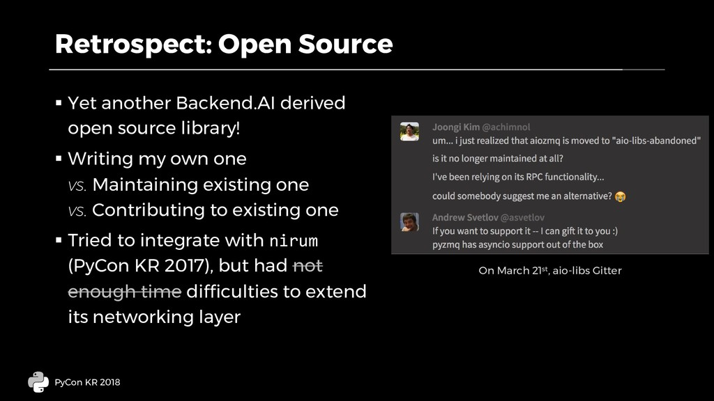 Retrospect: Open Source § Yet another Backend.A...