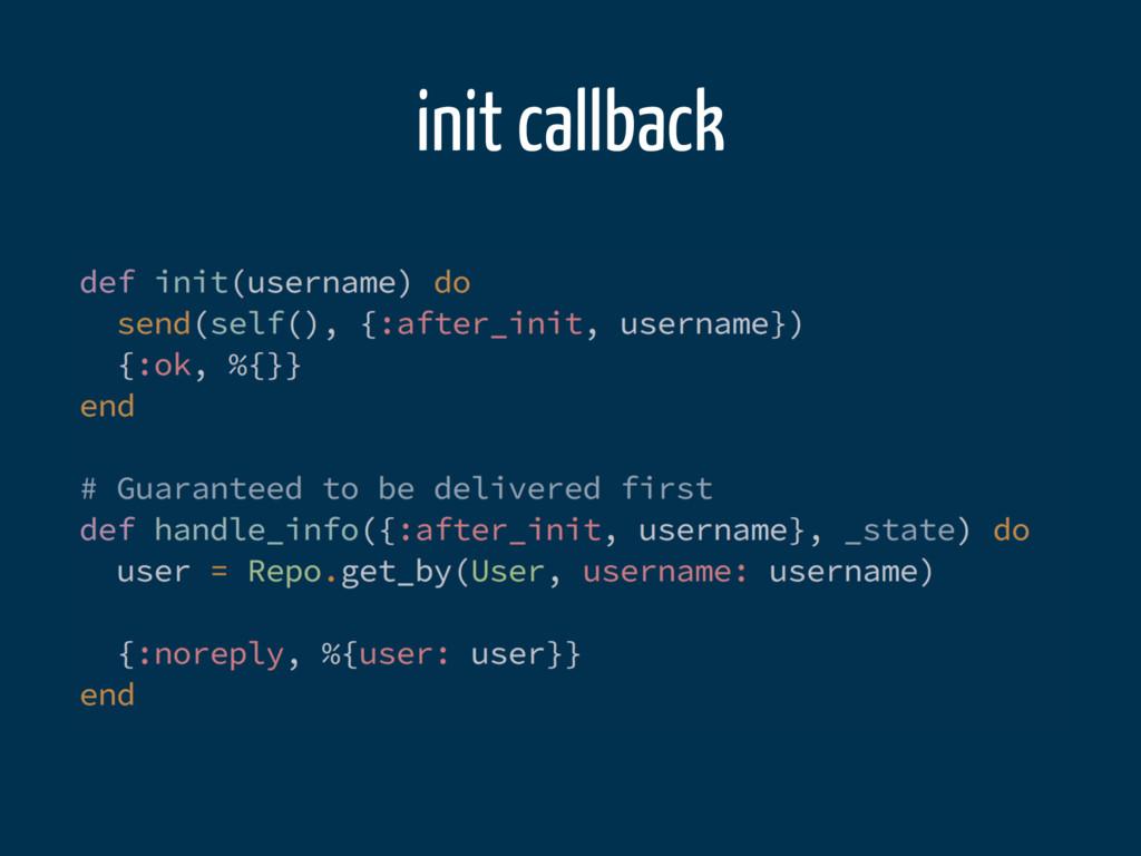 init callback
