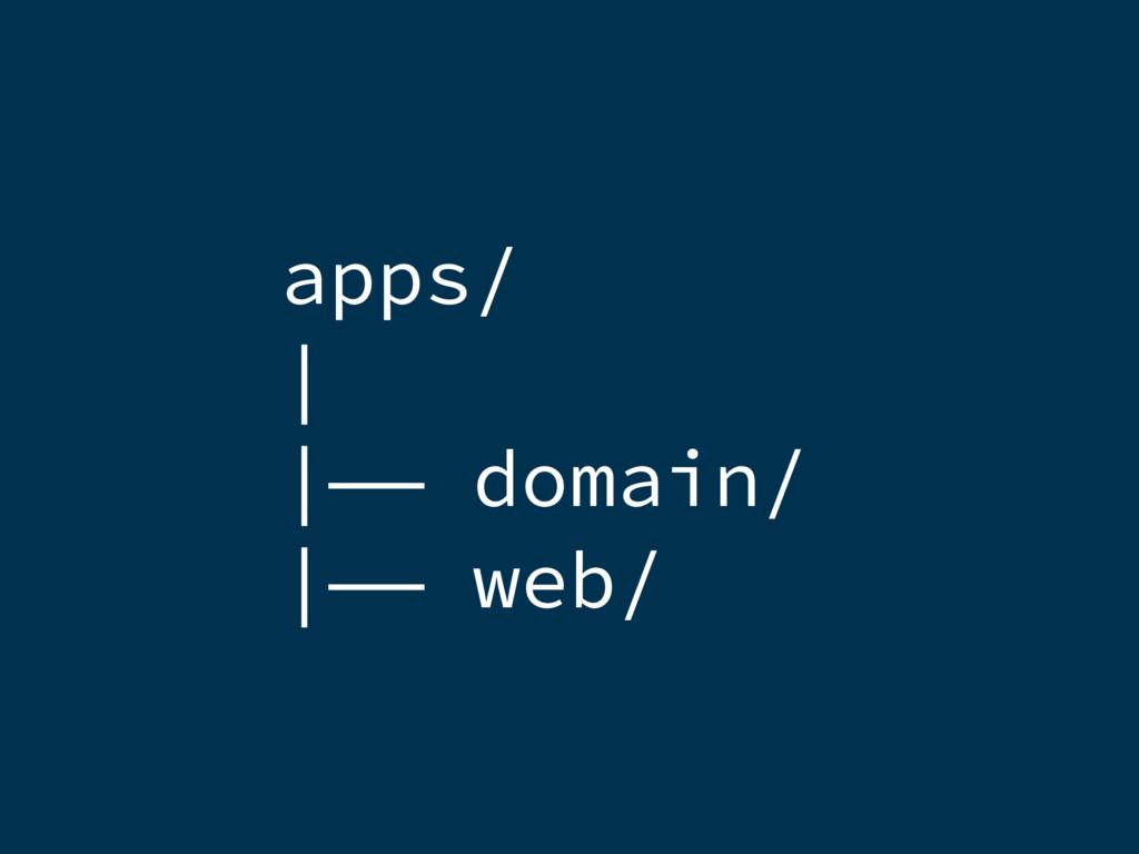 apps/    —— domain/  —— web/