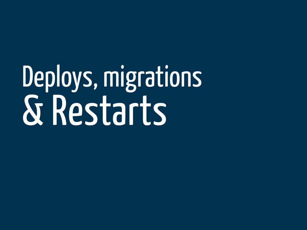 Deploys, migrations & Restarts