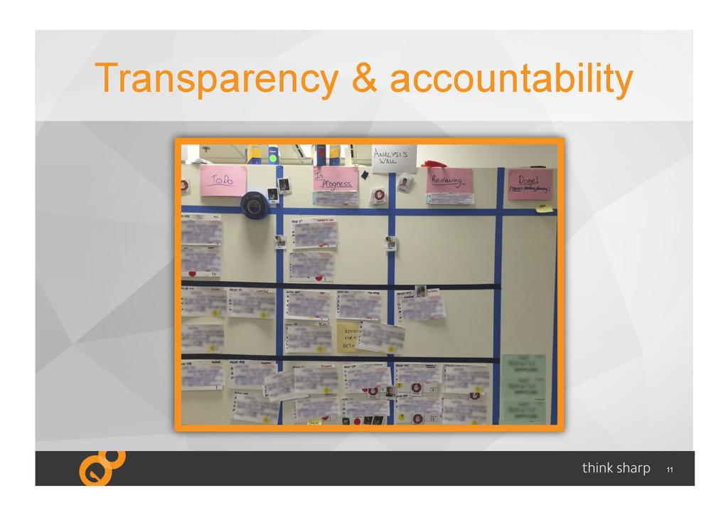 11 Transparency & accountability