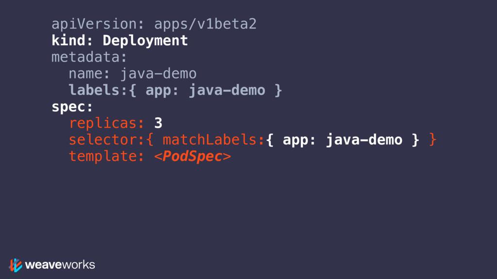 apiVersion: apps/v1beta2 kind: Deployment metad...