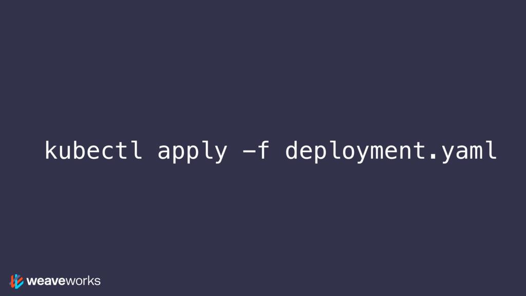 kubectl apply -f deployment.yaml
