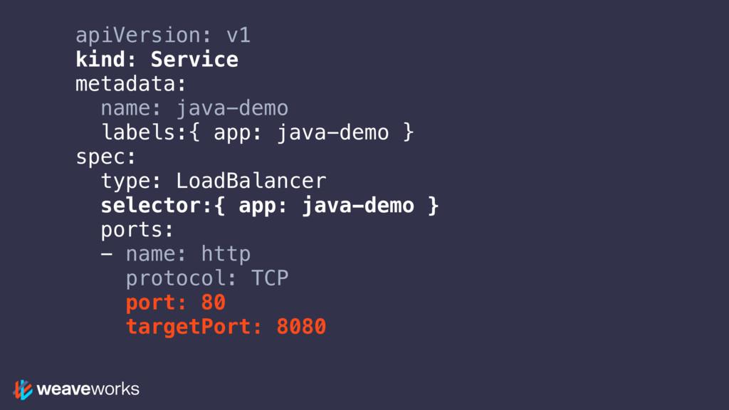 apiVersion: v1 kind: Service metadata: name: ja...