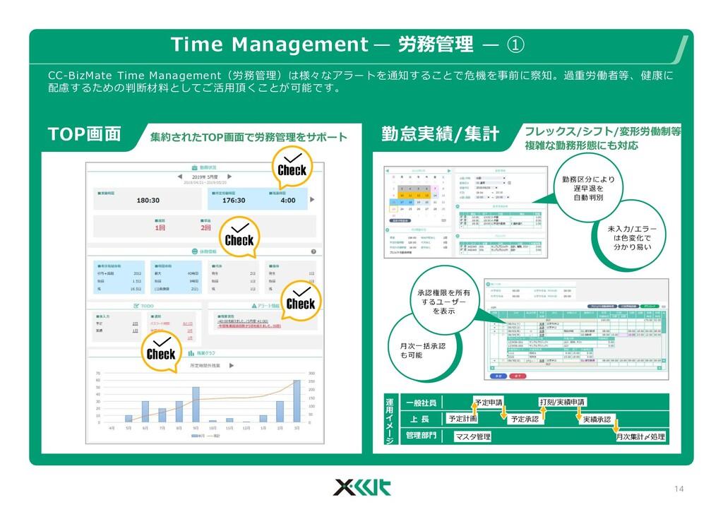 Time Management — 労務管理 — ① フレックス/シフト/変形労働制等 複雑な...