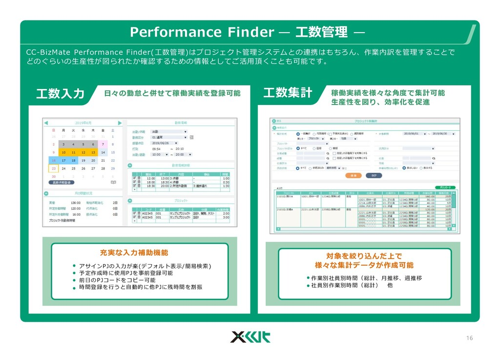 Performance Finder — 工数管理 — 16 CC-BizMate Perfo...