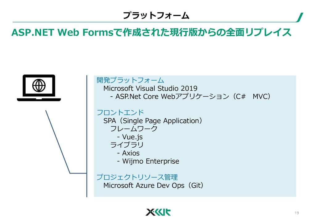開発プラットフォーム Microsoft Visual Studio 2019 - ASP.N...