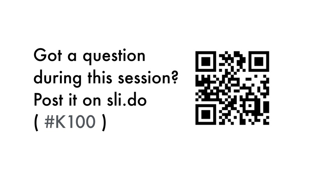 Got a question during this session? 