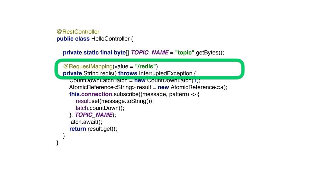 @RestController public class HelloController {...